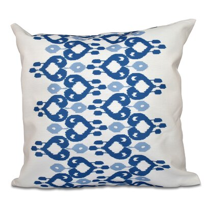 Meetinghouse Boho Chic Geometric Outdoor Throw Pillow Size: 20 H x 20 W, Color: Blue