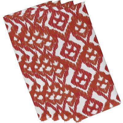 Oliver Hipster Geometric Print Napkin Color: Coral