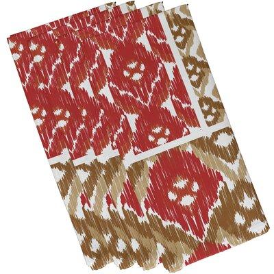 Oliver Free Spirit Geometric Print Napkin Color: Coral