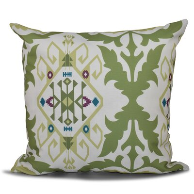 Oliver Bombay Medallion Geometric Outdoor Throw Pillow Size: 20 H x 20 W, Color: Green