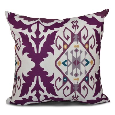Oliver Bombay Medallion Geometric Outdoor Throw Pillow Size: 20 H x 20 W, Color: Purple