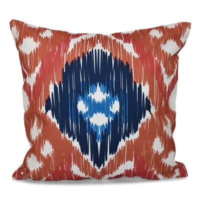 Eudora Original Outdoor Throw Pillow Size: 20 H x 20 W, Color: Coral/Blue