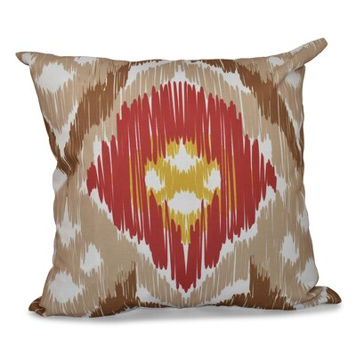 Eudora Original Outdoor Throw Pillow Size: 20 H x 20 W, Color: Taupe/Coral