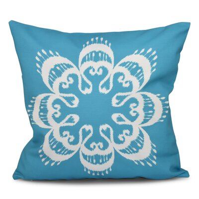 Oliver Ikat Mandala Geometric Outdoor Throw Pillow Size: 20 H x 20 W, Color: Turquoise