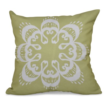 Oliver Ikat Mandala Geometric Outdoor Throw Pillow Size: 20 H x 20 W, Color: Green