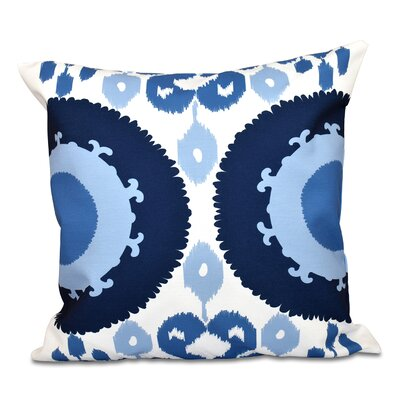 Oliver Boho Geometric Outdoor Throw Pillow Color: Navy Blue, Size: 20