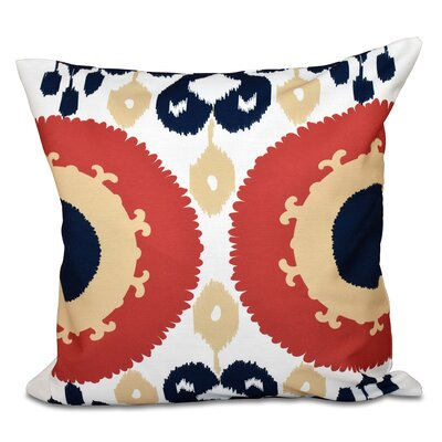 Oliver Boho Geometric Outdoor Throw Pillow Size: 18 H x 18 W, Color: Blue