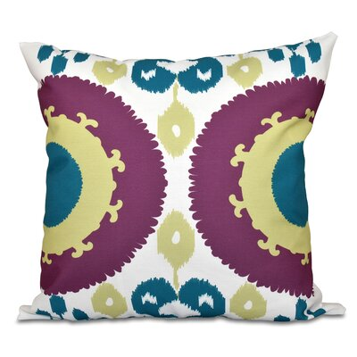 Oliver Boho Outdoor Throw Pillow Size: 20 H x 20 W, Color: Purple