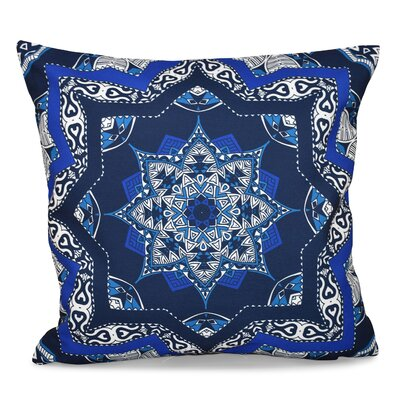 Oliver Shawl Geometric Outdoor Throw Pillow Color: Navy Blue, Size: 20 H x 20 W