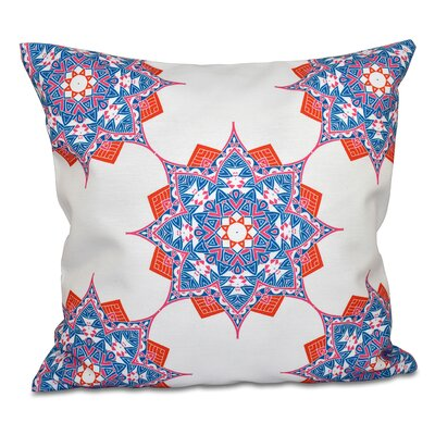 Oliver Rhapsody Outdoor Throw Pillow Color: Blue/Coral, Size: 20