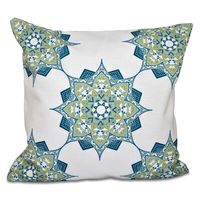 Oliver Rhapsody Geometric Outdoor Throw Pillow Size: 18