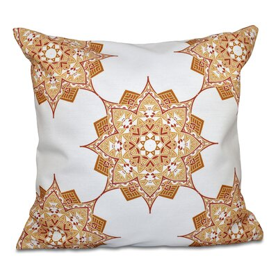 Oliver Rhapsody Outdoor Throw Pillow Size: 18 H x 18 W, Color: Gold