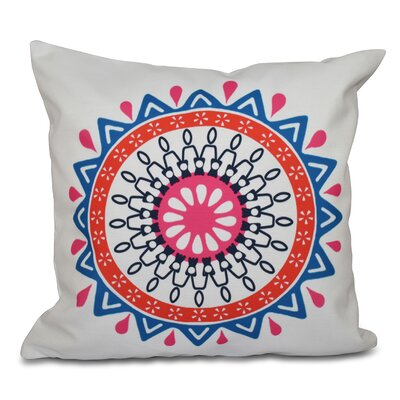 Oliver Mod Geometric Outdoor Throw Pillow Size: 18 H x 18 W, Color: Blue