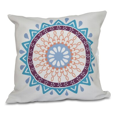 Oliver Mod Geometric Outdoor Throw Pillow Size: 20 H x 20 W, Color: Turquoise