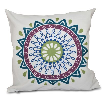 Oliver Mod Geometric Outdoor Throw Pillow Size: 18 H x 18 W, Color: Teal