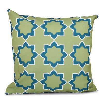 Oliver Bohemian 2 Geometric Outdoor Throw Pillow Size: 18 H x 18 W, Color: Teal