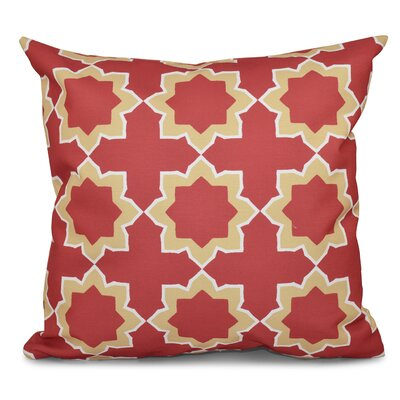 Oliver Bohemian 2 Geometric Outdoor Throw Pillow Size: 20 H x 20 W, Color: Coral