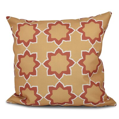 Oliver Bohemian 2 Geometric Outdoor Throw Pillow Size: 18 H x 18 W, Color: Gold