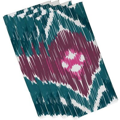 Oliver Original Geometric Print Napkin Color: Teal/Purple