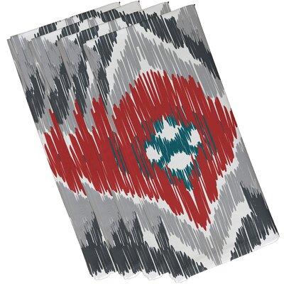 Oliver Original Geometric Print Napkin Color: Gray/Coral