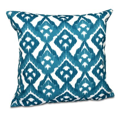 Sabrina Outdoor Throw Pillow Size: 18 H x 18 W, Color: Teal