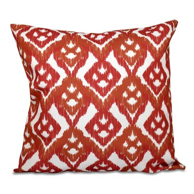 Sabrina Geometric Outdoor Throw Pillow Size: 20 H x 20 W, Color: Coral