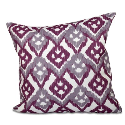Sabrina Outdoor Throw Pillow Size: 18 H x 18 W, Color: Lavender