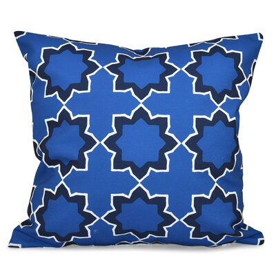 Oliver Bohemian Geometric Outdoor Throw Pillow Color: Blue, Size: 20 H x 20 W