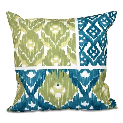 Oliver Free Spirit Geometric Outdoor Throw Pillow Size: 18 H x 18 W, Color: Teal