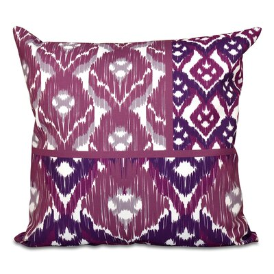 Oliver Free Spirit Geometric Outdoor Throw Pillow Size: 20 H x 20 W, Color: Purple