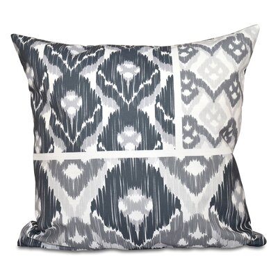 Oliver Free Spirit Geometric Outdoor Throw Pillow Size: 18 H x 18 W, Color: Gray