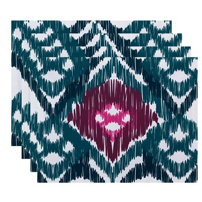 Oliver Original Geometric Print Placemat Color: Teal