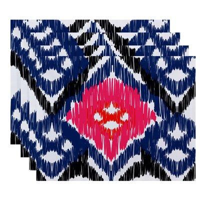 Oliver Original Geometric Print Placemat Color: Dark Blue
