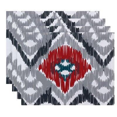 Oliver Original Geometric Print Placemat Color: Gray