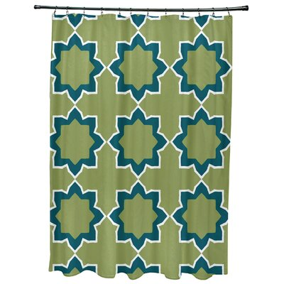 Oliver Bohemian 2 Geometric Print Shower Curtain Color: Teal