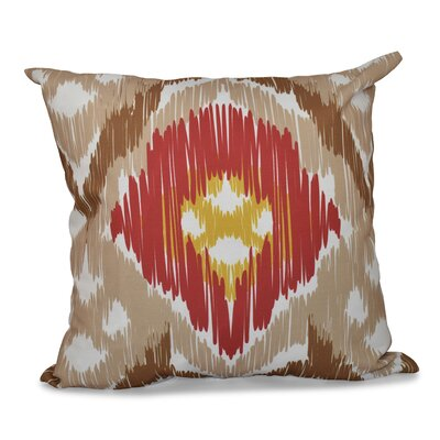 Bridgehampton Traditional Geometric Print Throw Pillow Size: 20 H x 20 W, Color: Taupe