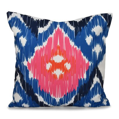 Bridgehampton Traditional Geometric Print Throw Pillow Size: 18 H x 18 W, Color: Dark Blue