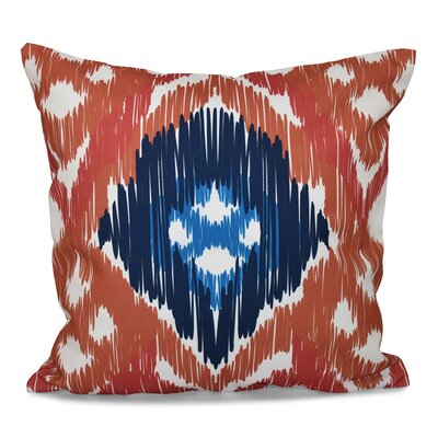 Bridgehampton Traditional Geometric Print Throw Pillow Size: 16 H x 16 W, Color: Coral