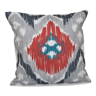 Bridgehampton Traditional Geometric Print Throw Pillow Color: Gray, Size: 18 H x 18 W