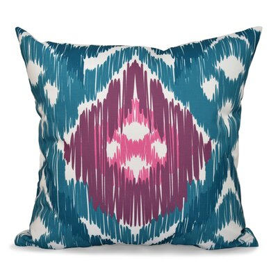 Bridgehampton Traditional Geometric Print Throw Pillow Size: 18 H x 18 W, Color: Teal