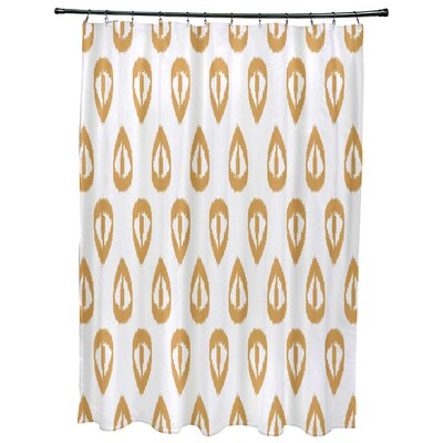 Bridgehampton Ikat Tears Geometric Print Shower Curtain Color: Gold