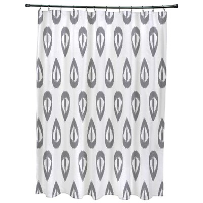 Bridgehampton Ikat Tears Geometric Print Shower Curtain Color: Gray