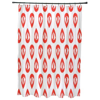 Bridgehampton Ikat Tears Geometric Print Shower Curtain Color: Orange
