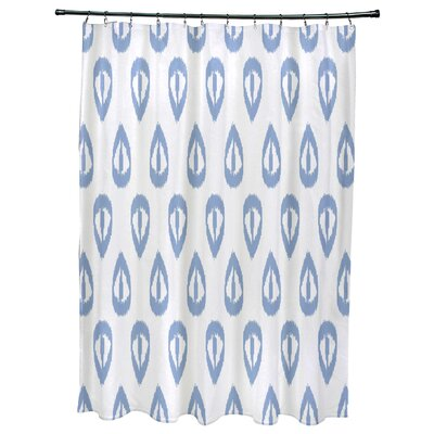 Bridgehampton Ikat Tears Geometric Print Shower Curtain Color: Blue