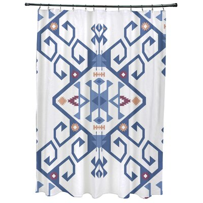 Oliver Jodhpur Medallion 2 Geometric Print Shower Curtain Color: Blue