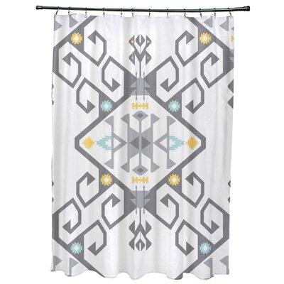Meetinghouse Jodhpur Medallion 2 Geometric Print Shower Curtain Color: Gray
