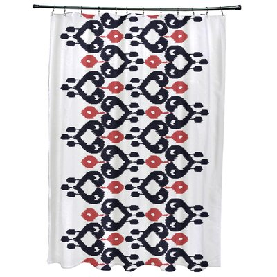 Meetinghouse Boho Chic Geometric Print Shower Curtain Color: Navy Blue