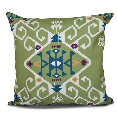Oliver Jodhpur Medallion Geometric Print Throw Pillow Size: 16 H x 16 W, Color: Green