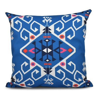 Oliver Jodhpur Medallion Geometric Print Throw Pillow Color: Blue, Size: 26 H x 26 W