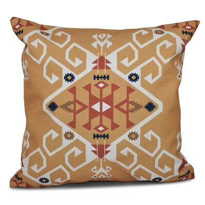 Oliver Jodhpur Medallion Geometric Print Throw Pillow Size: 18 H x 18 W, Color: Gold